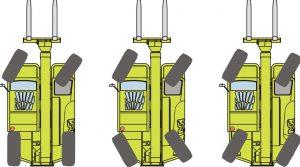 MERLO Teleskoplader verfügen über einen Allradantrieb mit 3 Lenkungsarten
